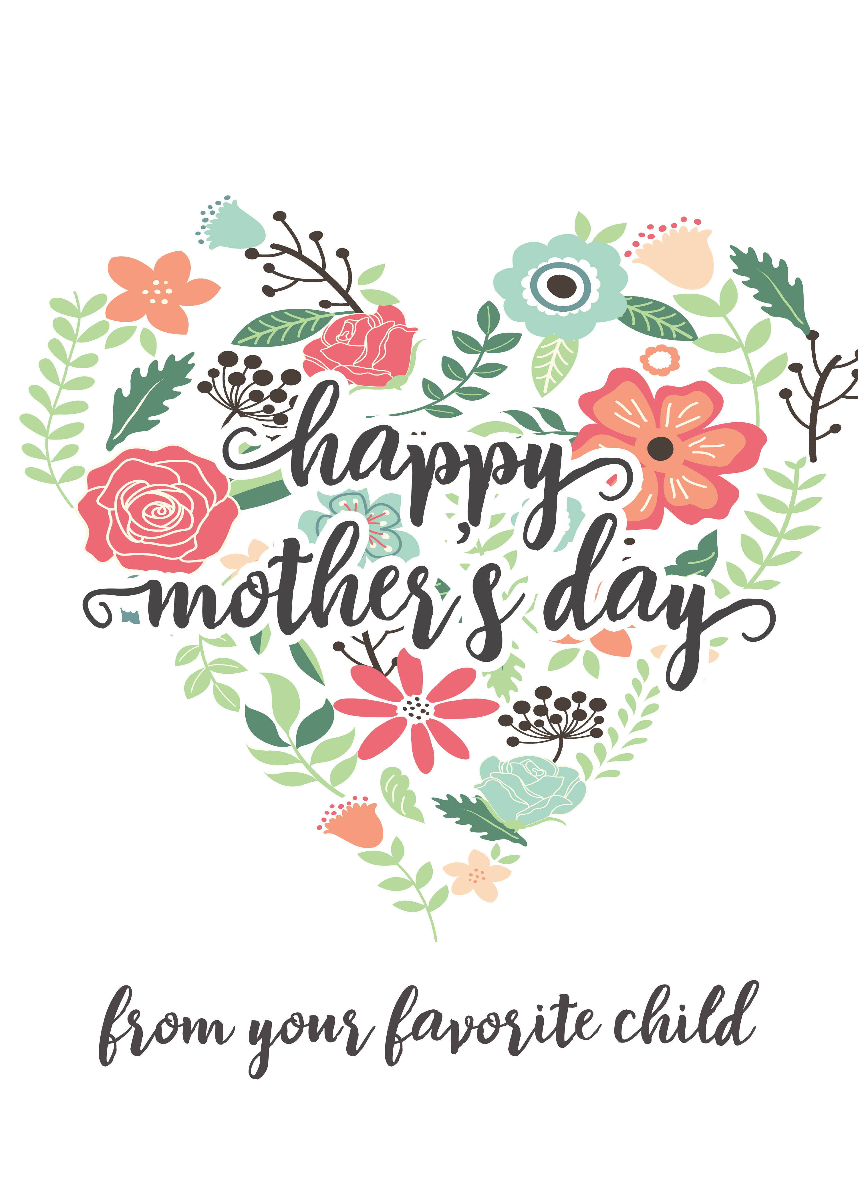 Happy Mothers Day Messages - Free Printable Mothers Day Cards